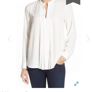 Vince camuto pleat front blouse